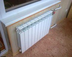 Правильная установка батарей отопления